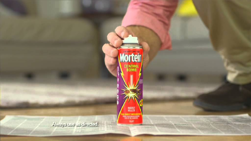 mortein flea bomb instructions
